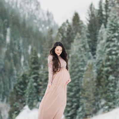 фотосессия беременных зимой